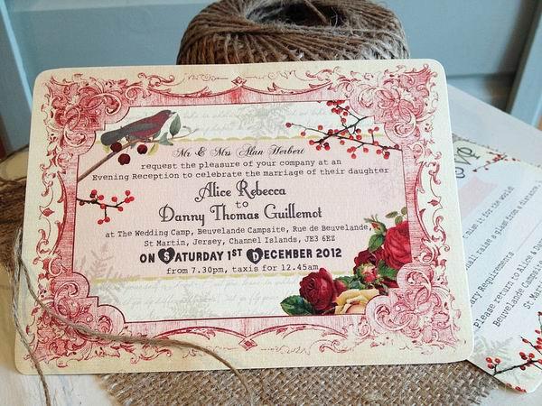 Christmas Wedding Invitation Ideas Uk