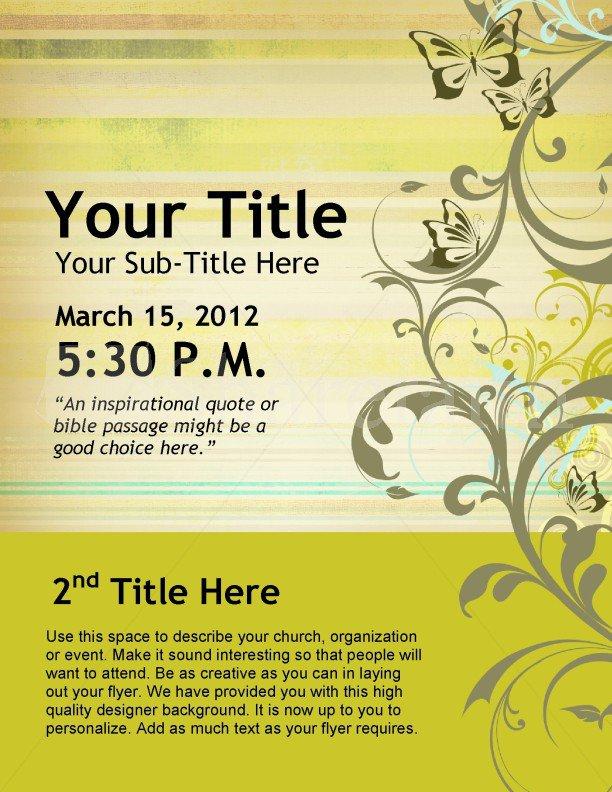 Church Invitation Templates Word