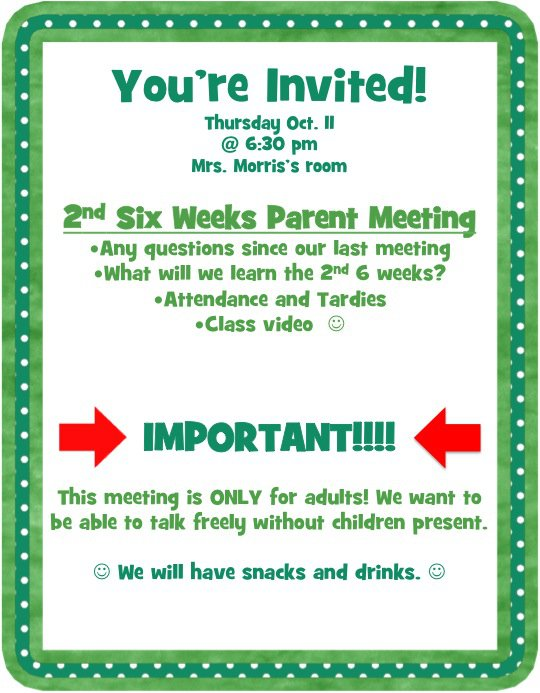 Church Meeting Invitation