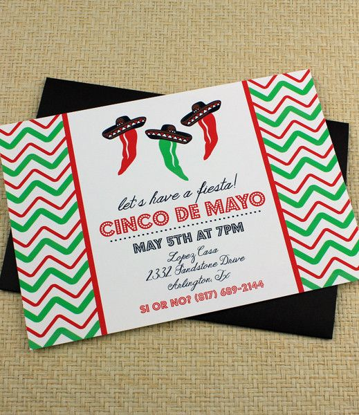 Cinco De Mayo Invitation Templates