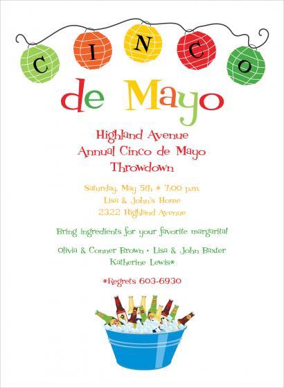 Cinco De Mayo Party Invitation Template Free