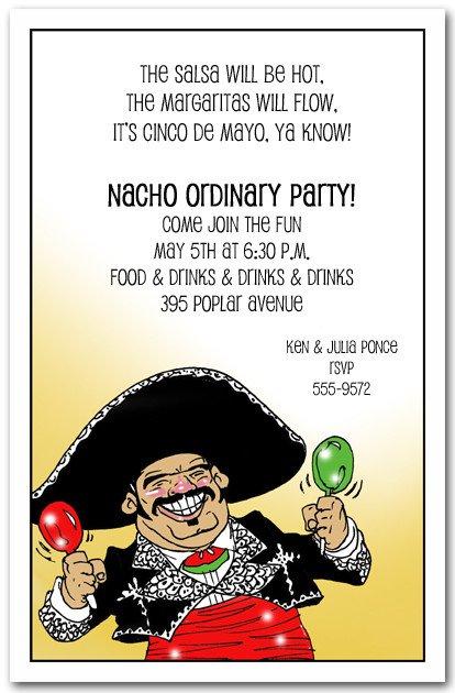 Cinco De Mayo Party Invitations Sayings