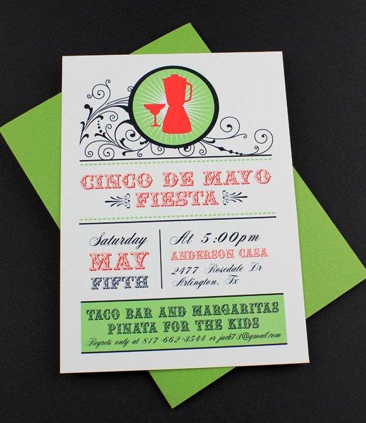 Cinco De Mayo Party Invitations Templates