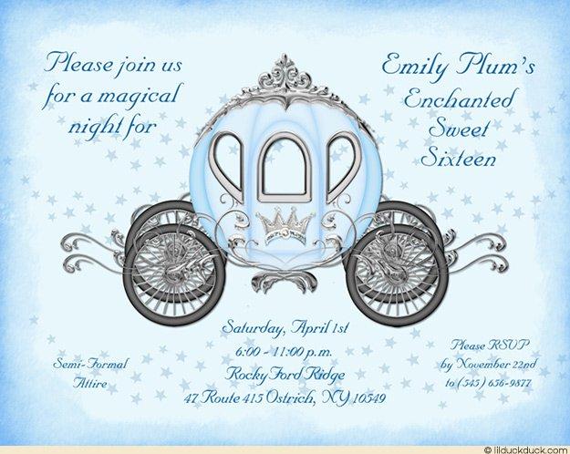 Cinderella Birthday Invitation Wording