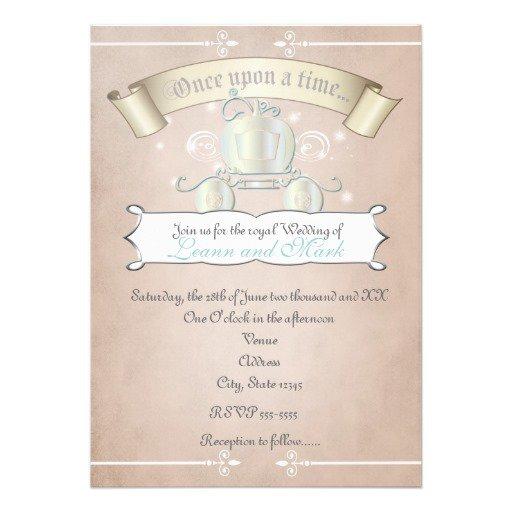 Cinderella Carriage Invitations