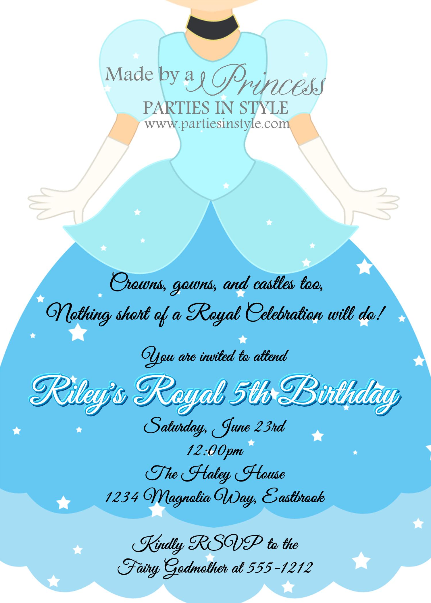 Cinderella Invitations Templates