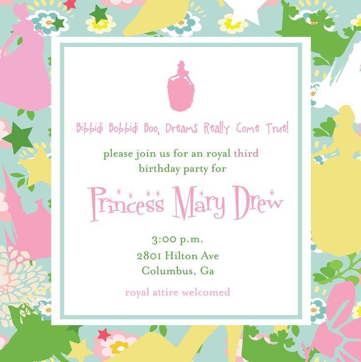 Cinderella Party Invitation Wording