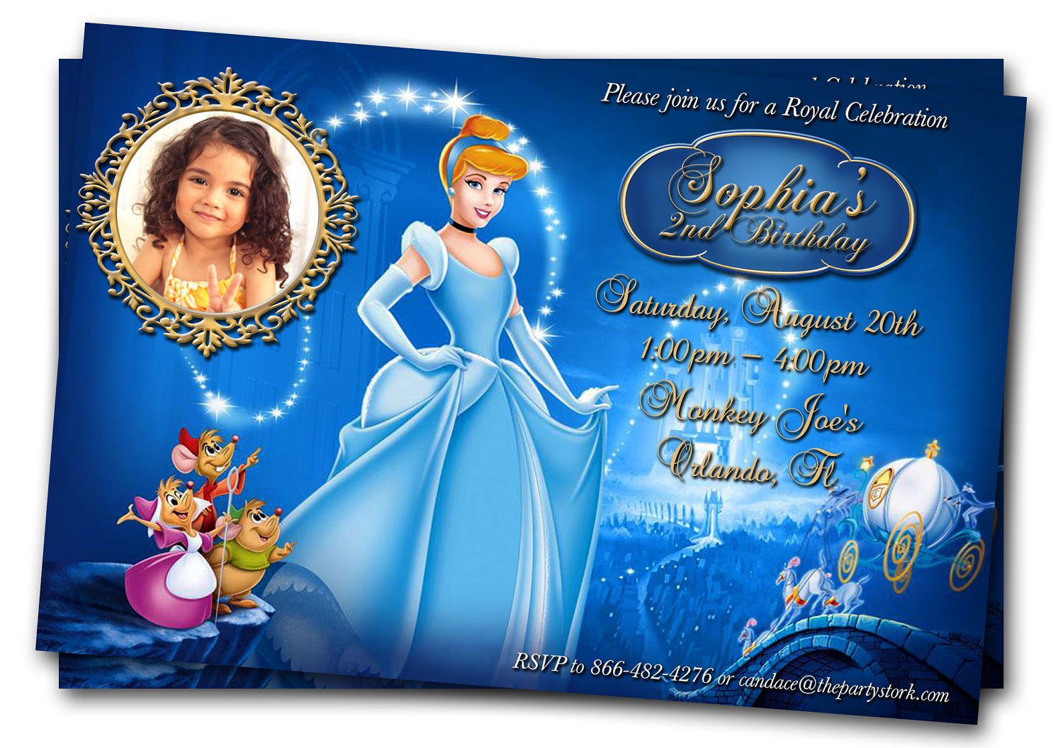 Cindrella Bday Party Invitation