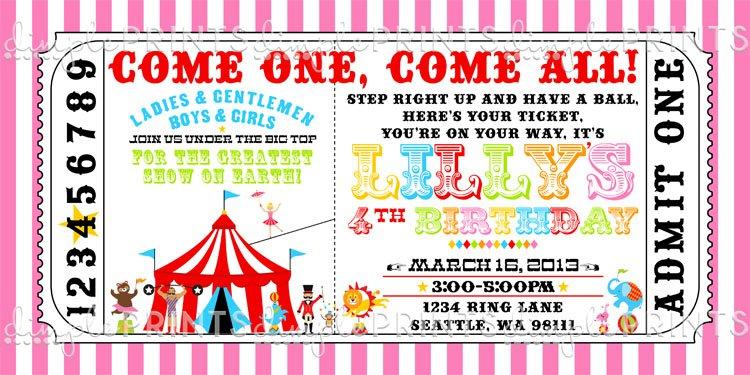 Circus Party Invitation Ideas