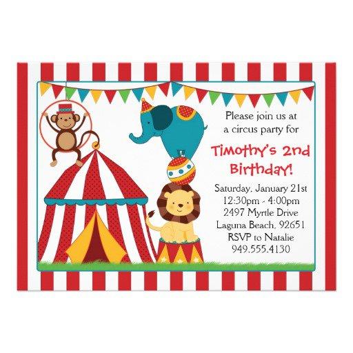 Circus Party Invitations Uk