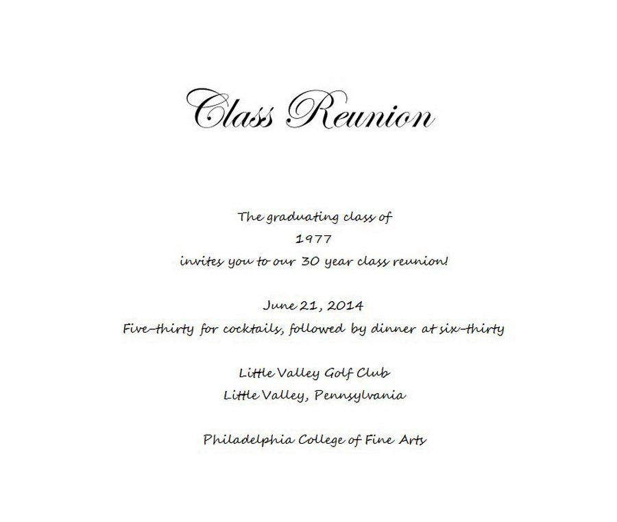 Class Reunion Invitation Templates Free