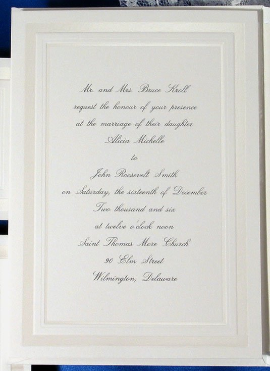 Classic Wedding Invitations Pinterest