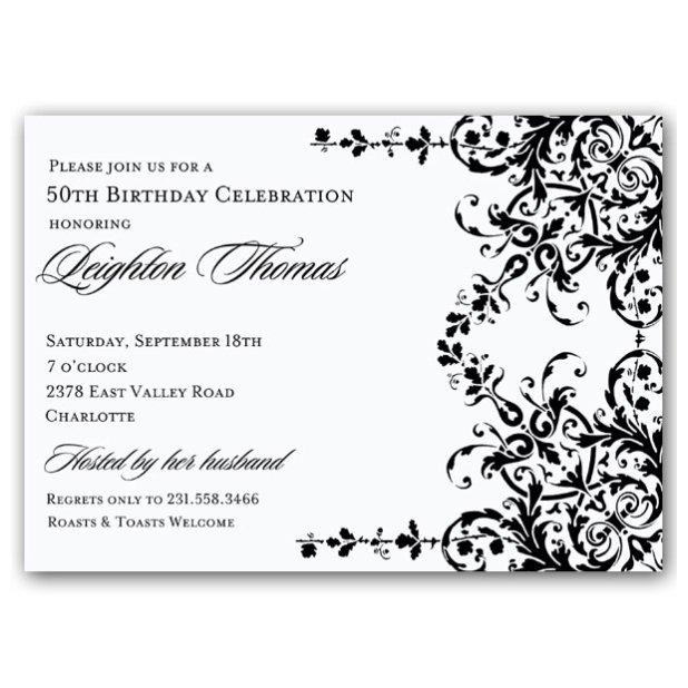 Classy 50th Birthday Invitations Printable