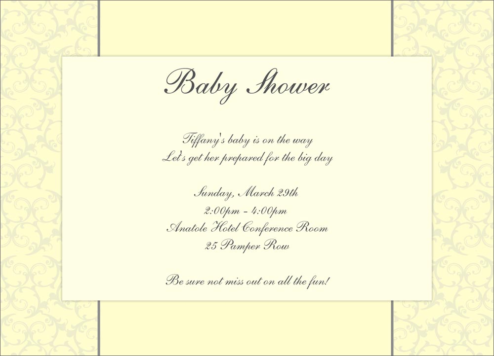 Classy Baby Shower Invitations