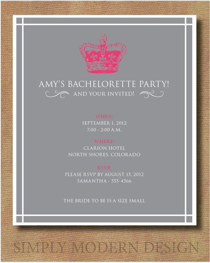 Classy Bachelorette Party Invitation