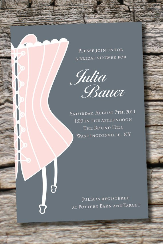 Classy Bachelorette Party Invitations