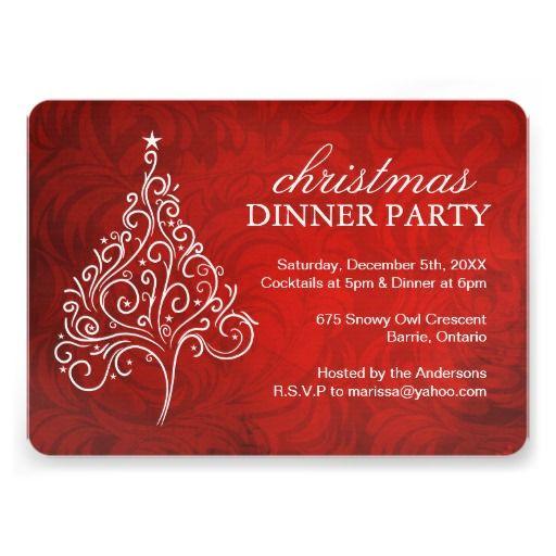 Classy Dinner Invitation