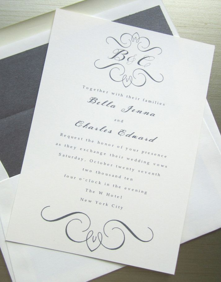 Classy Wedding Invitations Wording