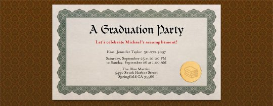 College Graduation Luncheon Invitations