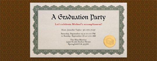 College Graduation Luncheon Invitations