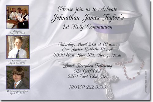 Communion Invitations Easy To Print
