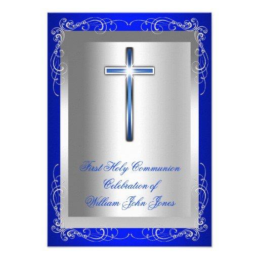 Communion Invitations For Boys
