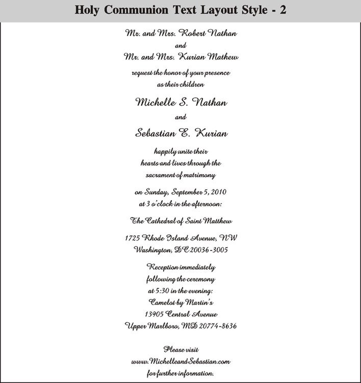 Communion Invitations High-end