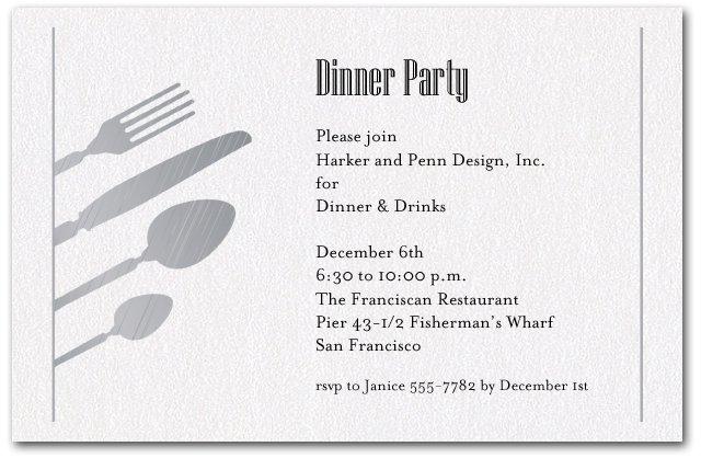 Company Dinner Invitation Templates