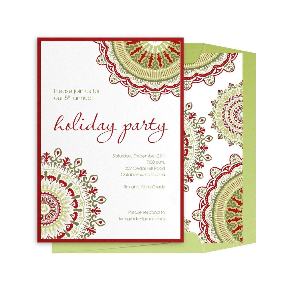 Company Holiday Invitations Templates