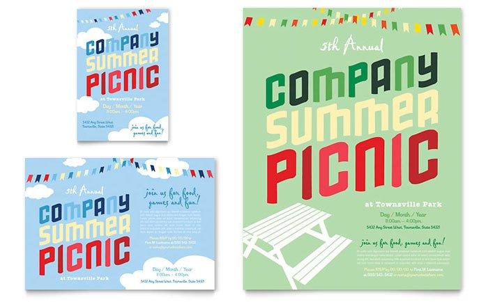 Company Picnic Invitation Templates