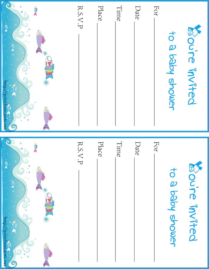 Computer Printable Baby Shower Invitations