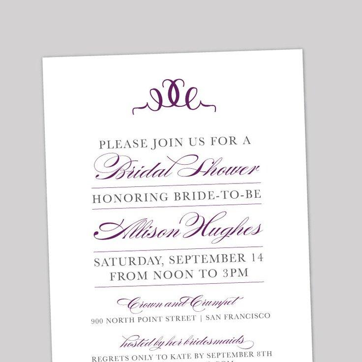 Computer Printable Wedding Invitations