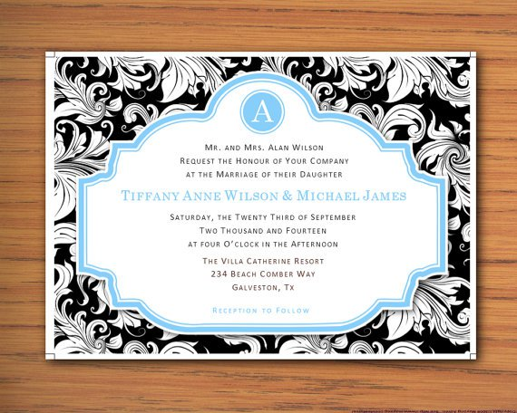 Computer Wedding Invitation Templates