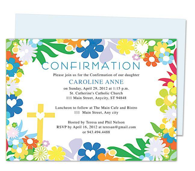 Confirmation Invitation Cards