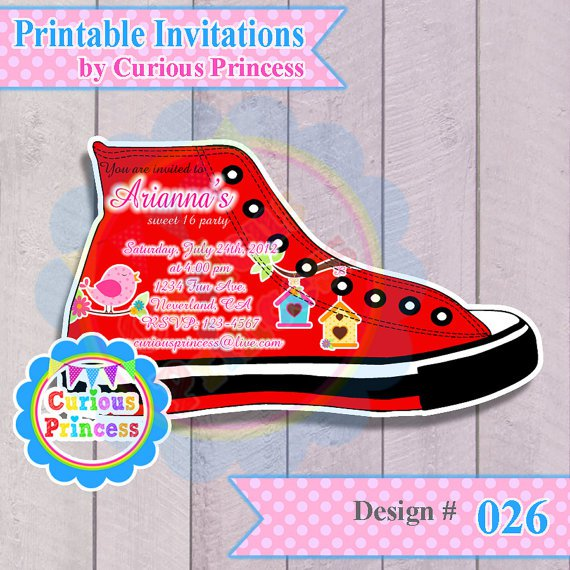 Converse Baby Shower Invitations