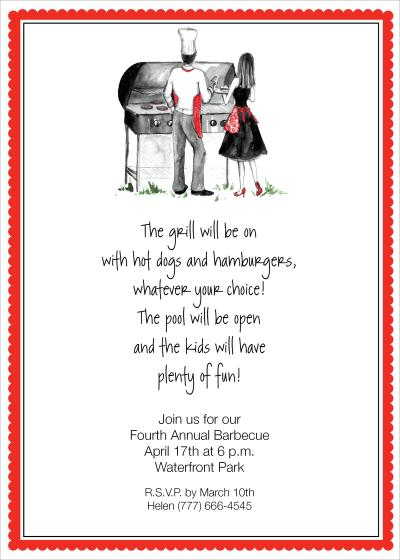 Cook Out Wedding Invitations