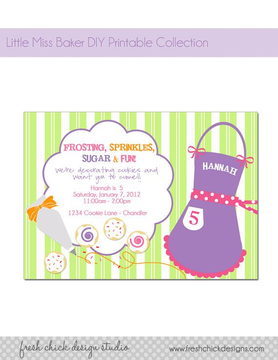 Cookie Baking Party Invitations