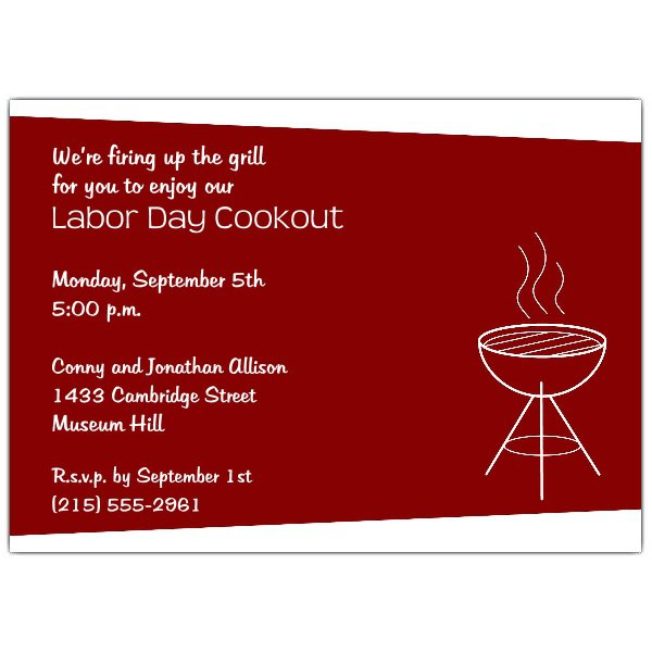 Cookout Party Invitations Free