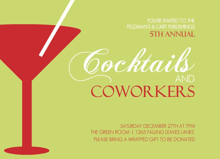 Corporate Cocktail Party Invitation Wording