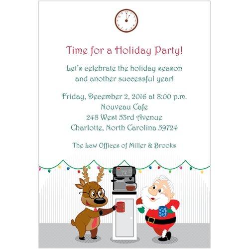 Corporate Holiday Invitation Wording Sample