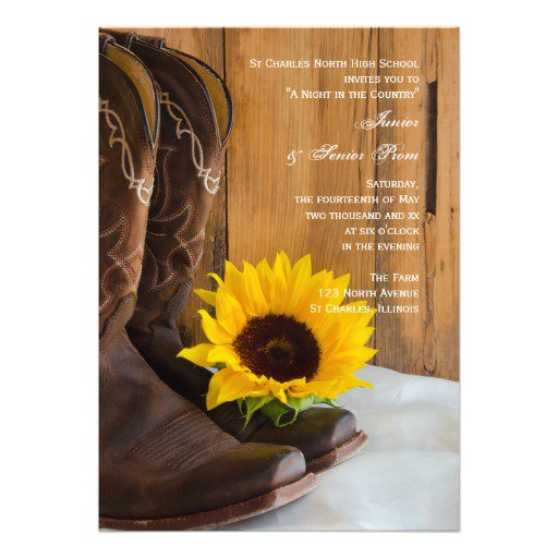 Country And Western Prom Invitations