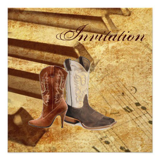Country Boots Wedding Invitations