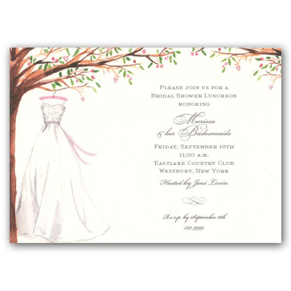 Country Bridal Shower Invitations Templates