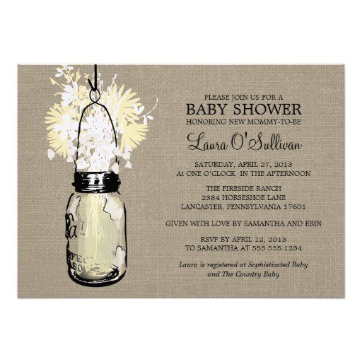 Country Girl Baby Shower Invitations