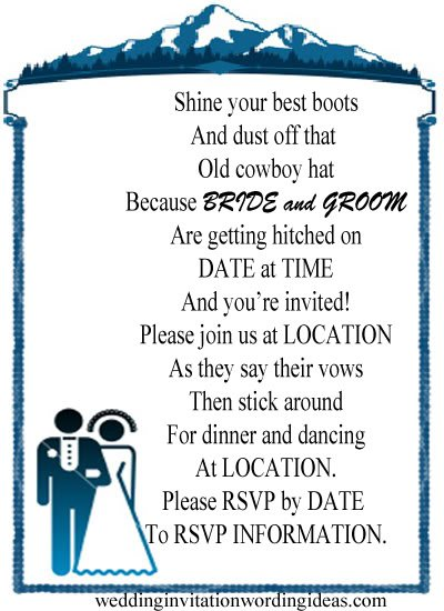 Country Wedding Invitations Wording