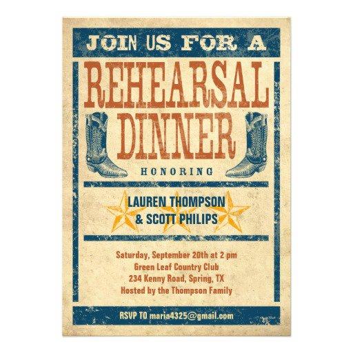 Country Wedding Rehearsal Dinner Invitation