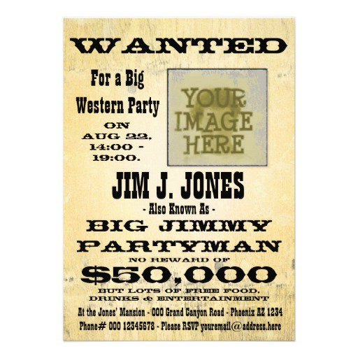 Country Western Party Invitation Templates Free