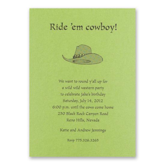 Country Western Party Invitations Adults
