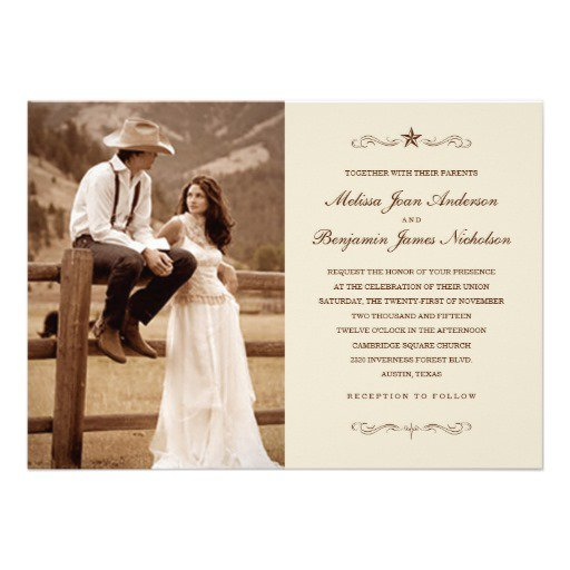 Country Western Wedding Invitations Catalogs