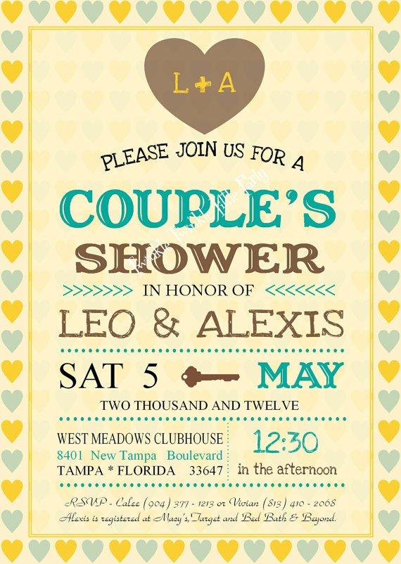 Couples Bridal Shower Invitation Wording Ideas